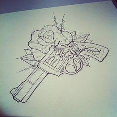 revolver tattoo design - Google Search