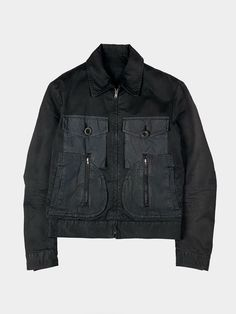 MARTIN MARGIELATrucker Jacket AW2006 INQUIRE DESCRIPTION Vintage cotton jacket that features circular pockets and a slightly cropped fit.... Deconstruction, Cotton Jacket, Vintage Cotton, Military Jacket, Archive, Product Description, Denim, Jackets, Shopping