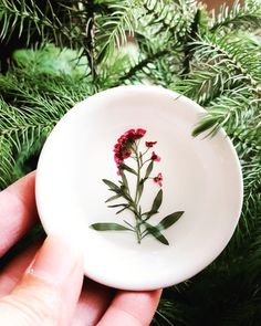 Floral Ring Dish Small Jewelry Organizer Ring Dish by TwigandCone