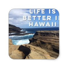 Life Is Better In Hawaii Square Sticker - craft supplies diy custom design supply special