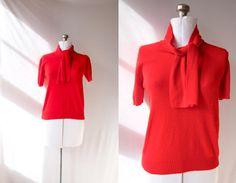 Vintage 1950's Bombshell Secretary Sweater   by PomegranateVintage, $24.99
