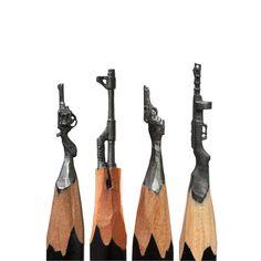 L'homme qui sculptait des mines de crayon