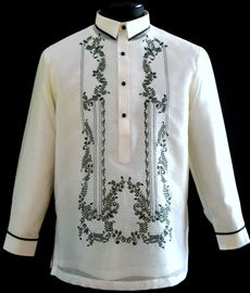 Picture of BarongAt Barongs 'R Us, we are committed to offering a wide variety of fine Barong Tagalog for men and Filipiniana Dresses for women. Our mission has always been to offer a strong sense of style and comfort into our products. Barong Tagalog, Mexican Costume, Filipiniana Dress, Philippines Fashion, First Communion Dresses, Line Shopping, Formal Looks, Wedding Suits, Designs To Draw