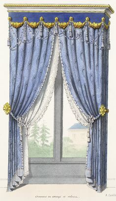 Small Curtains, Curtains And Draperies, Window Drapes, Window Coverings, Window Treatments, Victorian Curtains, Victorian Windows, Vintage Curtains, Victorian Decor