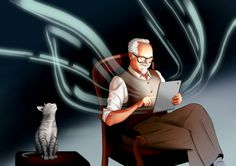 grandpa by Michal Ogorek, via Behance
