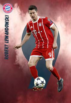 Robert Lewandowski of Bayern Munich in Soccer Cards, Fc Bayern Munich, Robert Lewandowski, Football Art, Football Players, Fifa, Captain America, Superhero, Posters