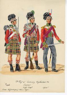 Waterloo 1815, British Uniforms, Highlanders, Napoleonic Wars, British Army, S Pic, Great Britain, Regency, Soldiers