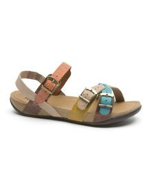 Step On Air Panama Leather Sandals