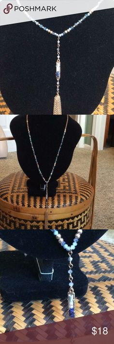 """Long stone and Tassel Necklace 22""""  With a 3"""" extender  brand new     My pictures don't show how pretty this necklace is Jewelry Necklaces"""