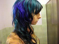 Peacock hair. @Monica Forghani Riley