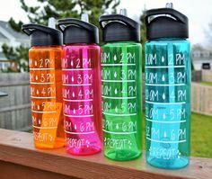 Motivational Water Intake Tracker // 24 oz by StellaKayeDesigns