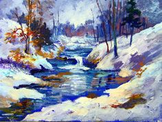 Snowy River: Now in the recorded lessons library. #gingercooklive # art