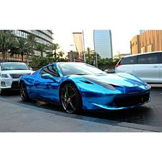 chrome blue Ferrari WOW oh WOW! -> Attract your goals FASTER, CLICK ON THE PICTURE