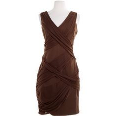 Pre-owned Cynthia Steffe Brown Dress ($45) ❤ liked on Polyvore featuring dresses, brown, brown dress, pre owned dresses, cynthia steffe, cynthia steffe dress and preowned dresses