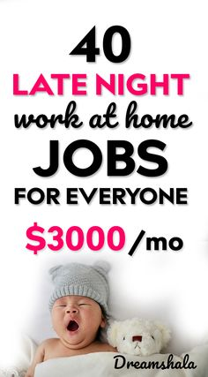 Are you searching for some late night work at home jobs? Here is the list of 50 genuine late night work at home jobs that pays you every day. Work From Home Moms, Make Money From Home, Make Money Online, How To Make Money, Night Jobs, Hustle Money, Work From Home Opportunities, Career Options, Legitimate Work From Home