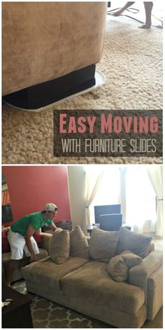 Save your back when #moving furniture with these EZ Moves. #tips #