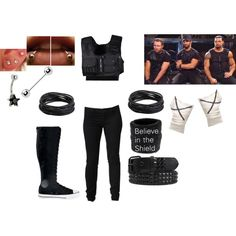 WWE The Shield by metalgrl on Polyvore. I'm going to be this for Halloween!