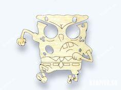 Брелок для наушников Губка Боб #сувенир #подарки #gifts #значки #pins #заготовки #lapel #handmade #brooch #Тула #Россия #krapivasu