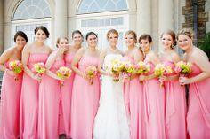 Pink Bridesmaid Dresses | A Brilliant Photo | Theknot.com