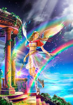 Clear Pieces Jigsaw Puzzle 216pcs Iris Greek mythology Fantasy Fairy Art KAGAYA #Yamanon