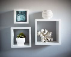Wall cubes are a cool, unique way to display objects on your walls.