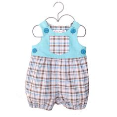 0efc6335e2b5 Blue plaid tartan baby boy Romper - playsuit onsie by LilTakkas on Etsy  https