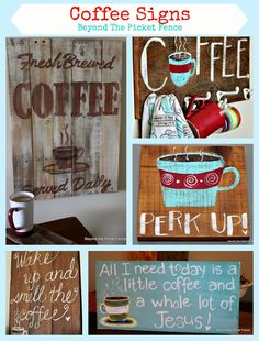Coffee Signs, http://bec4-beyondthepicketfence.blogspot.com/2015/02/coffee-culture.html