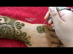 Latest Stylish Beautiful Big Flower Mehndi Design for Hand || Teej Special || Arham Mehndi Designs - YouTube Khafif Mehndi Design, Dulhan Mehndi Designs, Mehndi Art Designs, Mehndi Designs For Hands, Modern Henna Designs, Henna Designs Easy, Pink Flower Photos, Pink Flowers, Cute Kids Pics