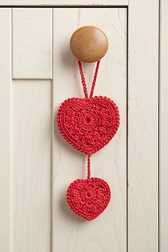 crocheted hearts pattern