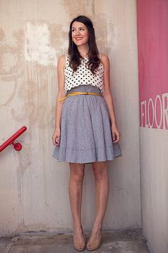 Cute. Mixing patterns is acceptable. Especially when your palette is neutral with small pops of color.