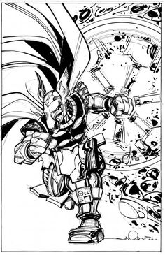 Beta Ray Bill sketch by Walt Simonson