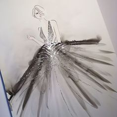 From the past. One of my favourite. Inspired by Roberto Cavalli Atelier Beautiful Sketches, Fashion Sketches, Fashion Illustrations, Fashion Art, Fashion Design, Instagram Images, Instagram Posts, Italian Fashion, Roberto Cavalli