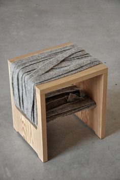 Exquisite designs that use felt for increased comfort and looks.  multifunctional felt bench and chair