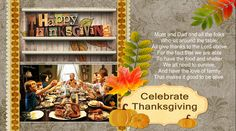 family thanksgiving greeting card