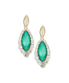 Another great find on #zulily! Emerald & Gold Crystal Teardrop Chandelier Earrings #zulilyfinds