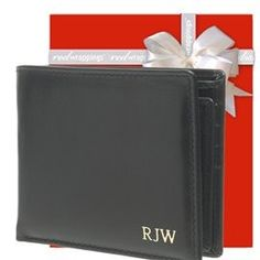 Not just an ordinary wallet. This one has RFID Technology to protect your credit cards from fraudsters. You can also personalise this wallet with gold embossing. What a gift!