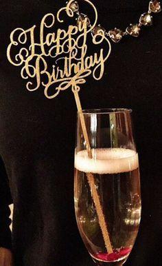 happy birthday champagne decoration