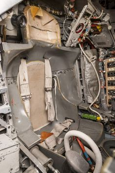 """The seat John Glenn sat in for the mission, known as the couch, was custom made to fit him and his spacesuit during the mission. The size of the spacecraft meant that Mercury astronauts could not be taller than 5 feet, 11 inches. The astronauts joked that """"you don't get in it, you put it on."""""""