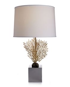 Fan Coral Table Lamp, Stainless - Michael Aram