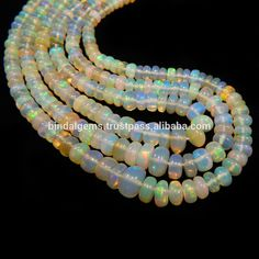 Natural Gemstone Ethiopian Opal Plain Rondelle Beads Buy Online Link Below - Buy Ethiopian Opal Plain Beads,Plain Rondelle Beads,Gemstone Beads Product on Alibaba.com