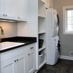 Laundry basket storage vertical