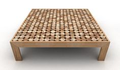 Low square wooden coffee table SOFIA | Wooden coffee table by mg12