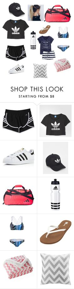 """camp!!★★♥♥"" by bongersc ❤ liked on Polyvore featuring adidas, Capelli New York, WithChic, Volcom, H&M, Lala + Bash and Intelligent Design"