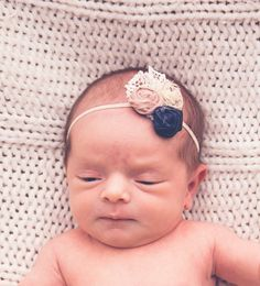 This item is unavailable Vintage Headbands, Elastic Headbands, Rosette Headband, Bitty Baby, Vintage Lace, Rosettes, Happy Shopping, My Etsy Shop, Ivory