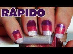 Uñas decoradas con esmalte y esponja (Tip para resaltar colores) | Uñas decoradas tricolor