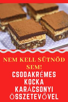 Cookie Desserts, Cookie Recipes, Dessert Recipes, Xmas Food, Christmas Sweets, Hungarian Cake, Cake Cookies, No Bake Cake, Sweet Recipes