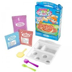 Yummy Nummies is a line of food kits that let kids make realistic-tasting mini foods in the microwave.