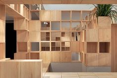 Wakaka Temporary Store by Penda, located in Tianjin – China. Architecture studio Penda has designed a retail outlet for Wakaka, a Chinese mobile app developer… Design Furniture, Living Furniture, Visual Merchandising, Temporary Store, Kindergarten Design, Mobile Living, Store Interiors, House Interiors, Mobile Shop