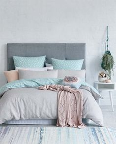 This is a Bedroom Interior Design Ideas. House is a private bedroom and is usually hidden from our guests. However, it is important to her, not only for comfort but also style. Much of our bedroom … Dream Bedroom, Home Bedroom, Bedroom Decor, Grown Up Bedroom, Pretty Bedroom, House Of Turquoise, Pastel Bedroom, Bedroom Colours, Bedroom Inspo