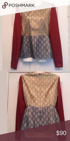 Stella McCartney brocade blouse Beautiful silver and gold Stella McCartney blouse. Long sleeves. Size 40 Stella McCartney Tops Blouses